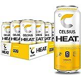 CELSIUS HEAT Jackfruit Performance Energy Drink, Zero Sugar, 16oz. Can, 12 Pack