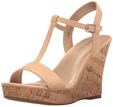 Charles By Charles David Women's Libra Wedge Sandal, Nude, ...