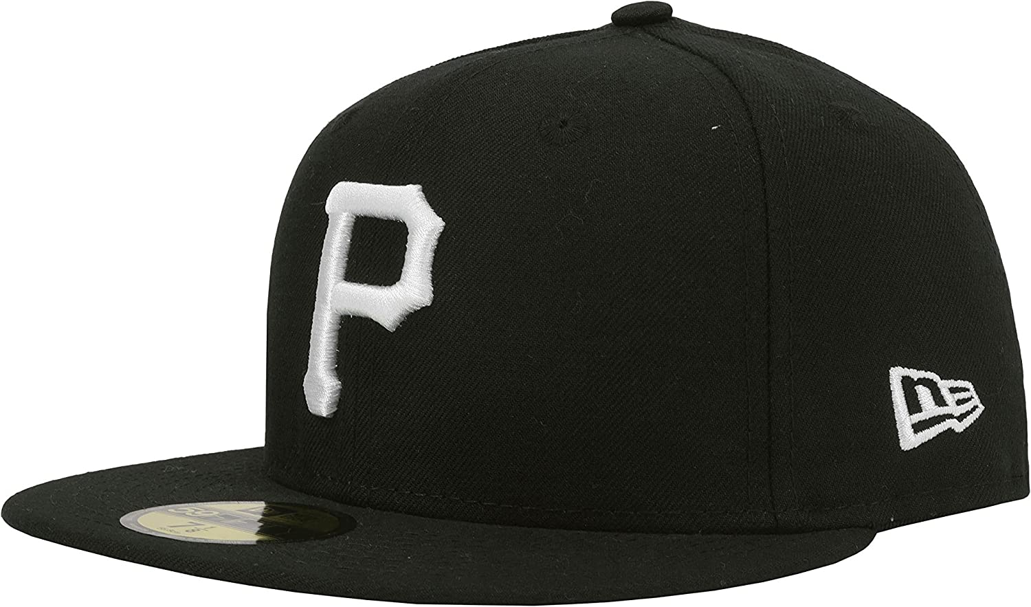 8 1//8 NEW ERA 59fifty Mens MLB HAT Pittsburgh Pirates Black Fitted Cap