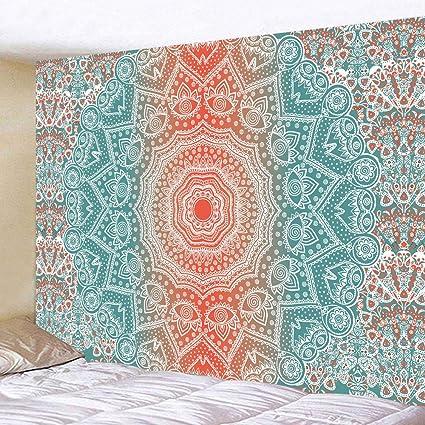 Mandala Wallpaper Tapestry Wall Hanging, Modern Tribal Mandala Tibetan  Healing Motif with Floral Geometric Ombre Art Tapestry Blanket for Bedroom  ...