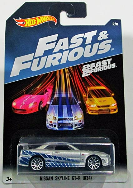 Amazon Com Hot Wheels 2017 Fast And Furious Nissan Skyline Gt R R34