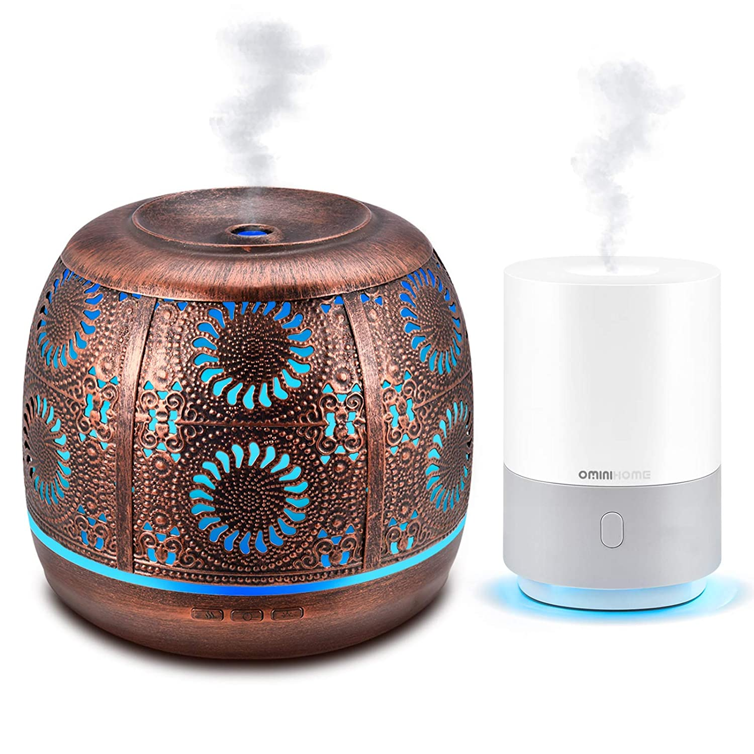 Ominihome Essential Oil Diffuser, Oil Diffuser For Essential Oils With Waterless Auto Shut-Off Protection, Ultrasonic Cool Mist Humidifier, Aromatherapy Diffuser for Home Decor