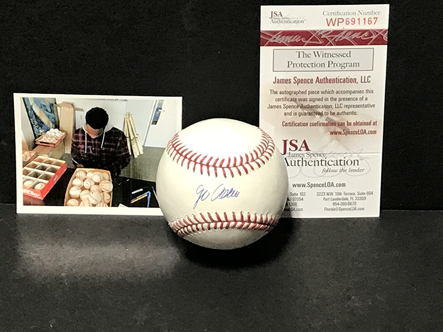 Jo Adell Los Angeles Angels Autographed Signed Official Major League Baseball JSA WITNESS COA SidsGraphs