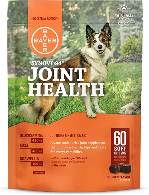 Synovi G4 Dog Joint Supplement Chews for Dogs of All Ages, Sizes and Breeds