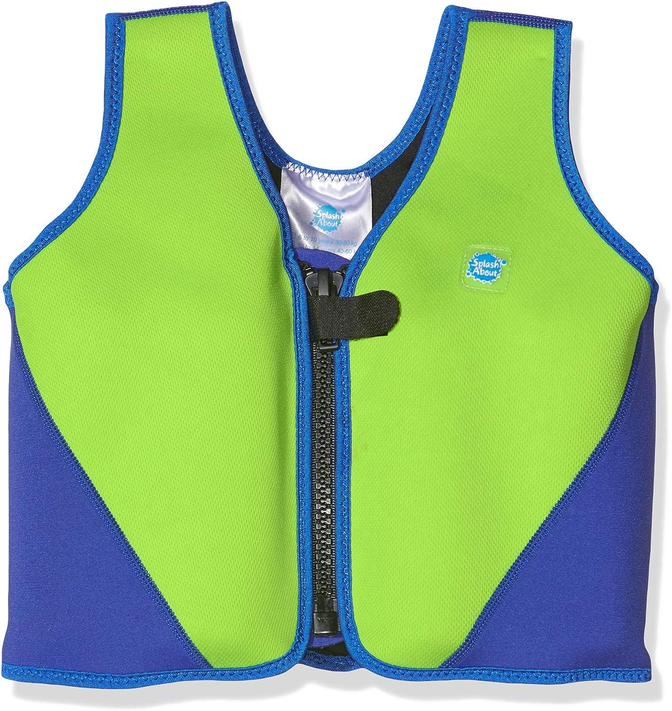 Splash About - Chaleco de flotabilidad para niños (Neopreno) Lime/Royal Talla:1-3 Years