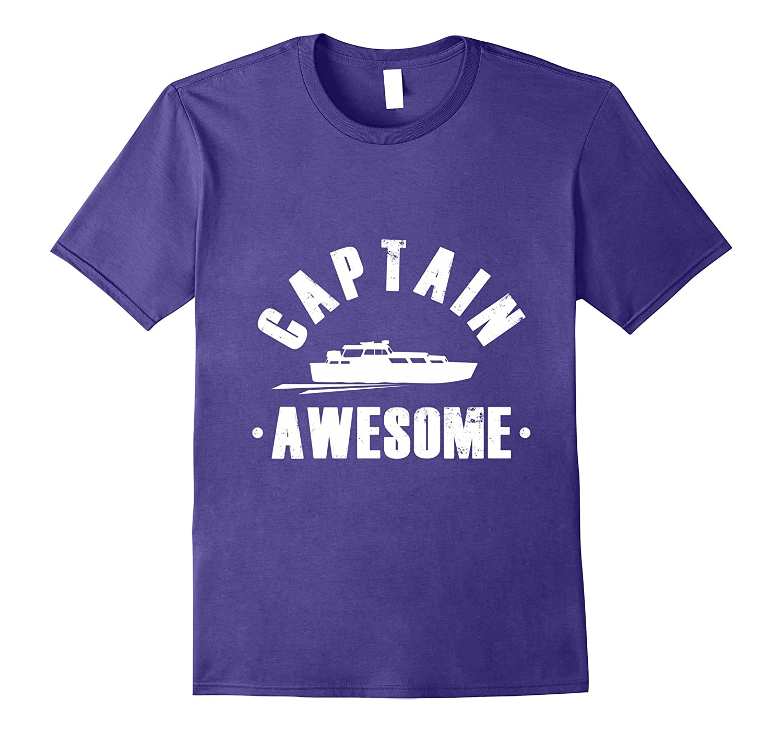 Pontoon Boat Captain Awesome T-Shirt-Art