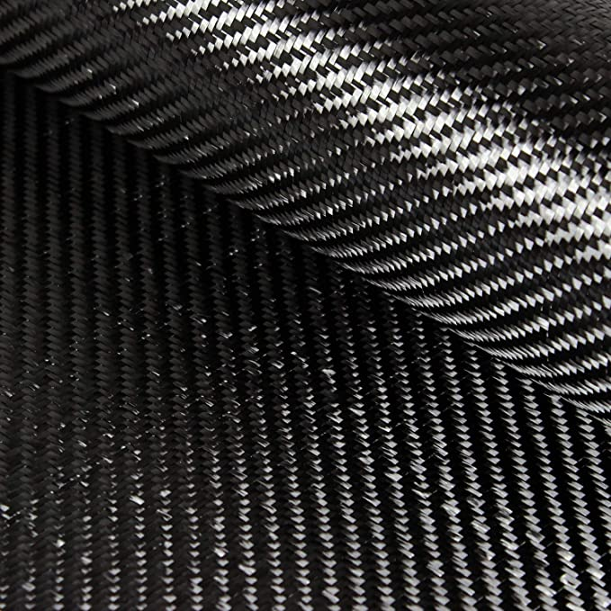 "Carbon Fiber Fabric 2x2 Twill 60/"" 3k 6oz"