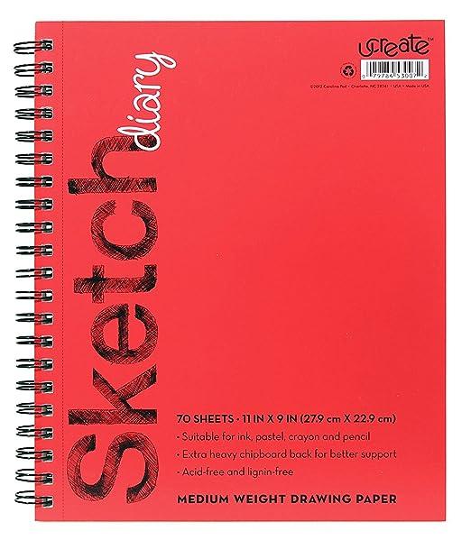 Amazon Com U Create Sketch Book 11 X 9 Acid Lignin