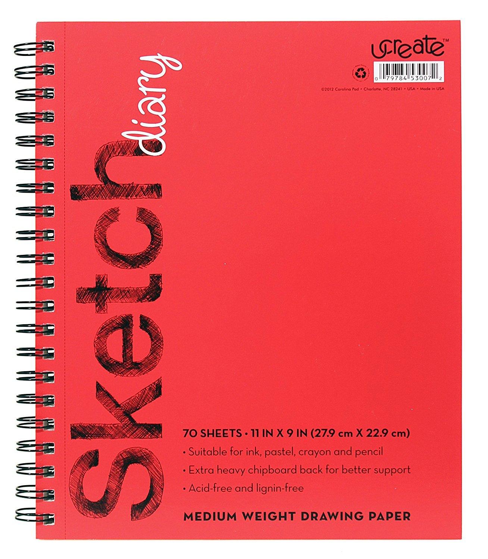 U-Create Sketch Book, 11'' x 9'', Acid & Lignin Free, 57 lb Paper (53007)