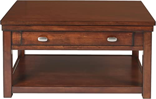 New Classic FURNITURE Houston Lift Top Burnished Cherry Cocktail Table