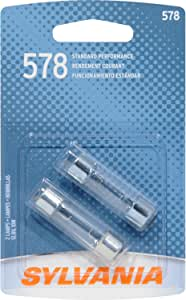 SYLVANIA 578 Basic Miniature Bulb, (Contains 2 Bulbs)
