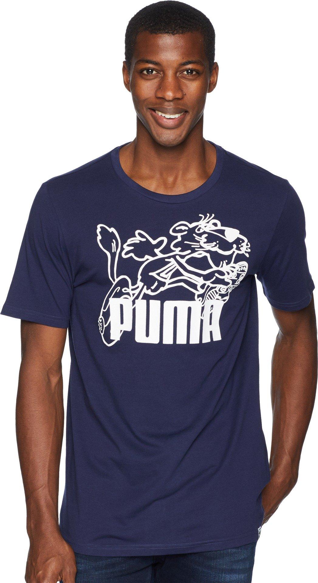 PUMA  Men's Graphic Retro Sports Tee Peacoat XX-Large