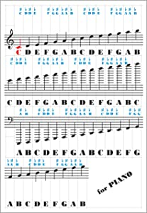 Piano Keyboard Stickers - for 49/61 / 76/88 Keys - Music Note Removable Accessories - Double Layer Coating for Kids Learning Piano