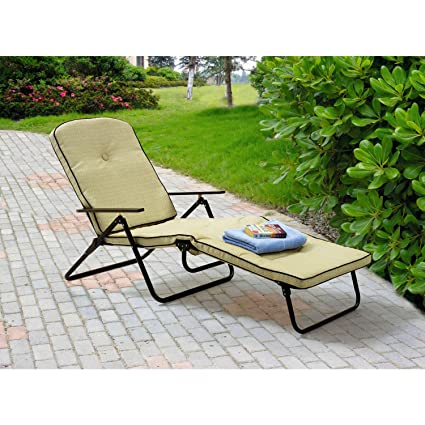 Amazon.com: Chaise silla plegable con respaldo ajustable Lay ...