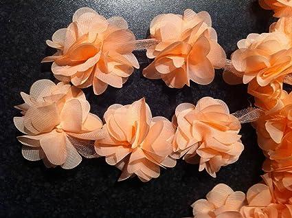 Petali di fiori chiffon leaves Trim – abito da sposa da sposa in pizzo  tessuto – ea113000180