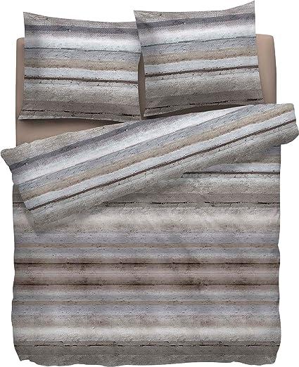 Heckett & Lane - Set copripiumino in flanella di cotone grigio ...