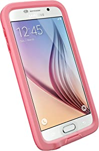 LifeProof FRE SERIES Waterproof Case for Samsung Galaxy S6 - Retail Packaging - CUTBACK CORAL (CORAL/CANDY PINK)