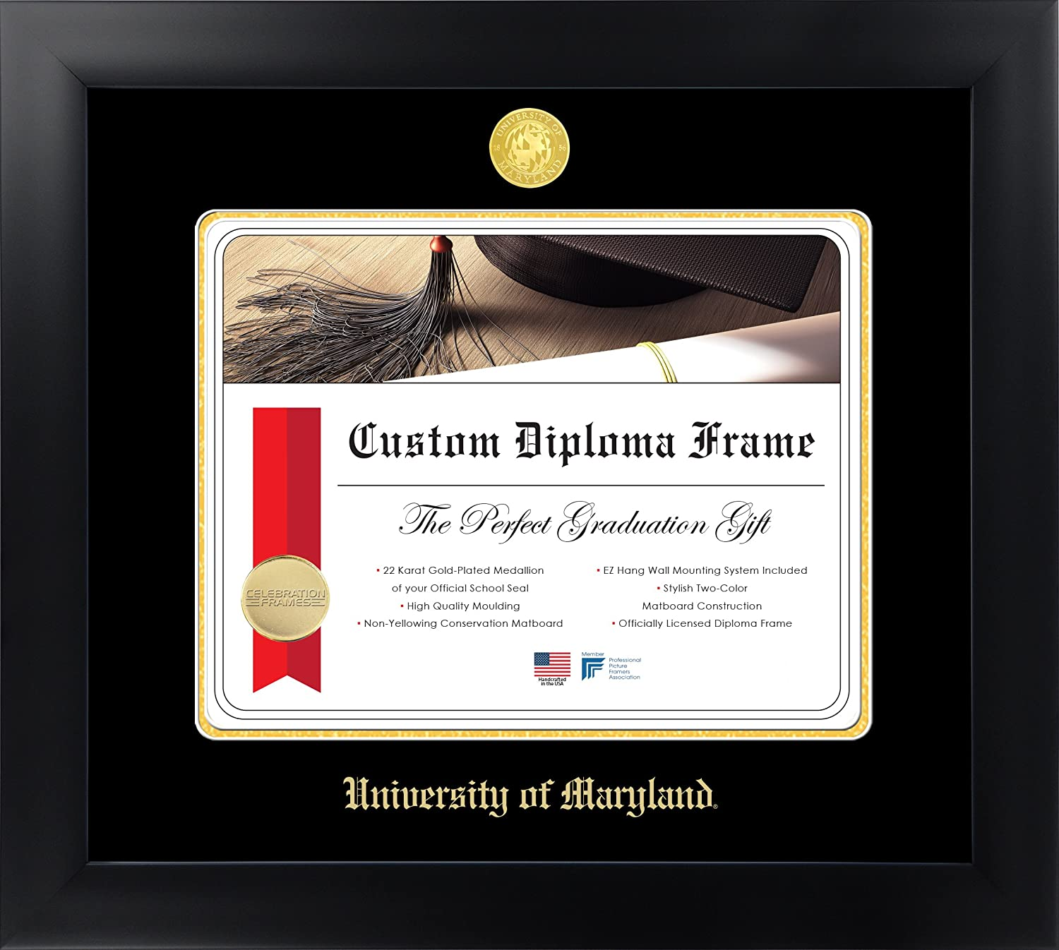 Amazon.com: Celebration Frames University of Maryland 13 x 17 Matte ...