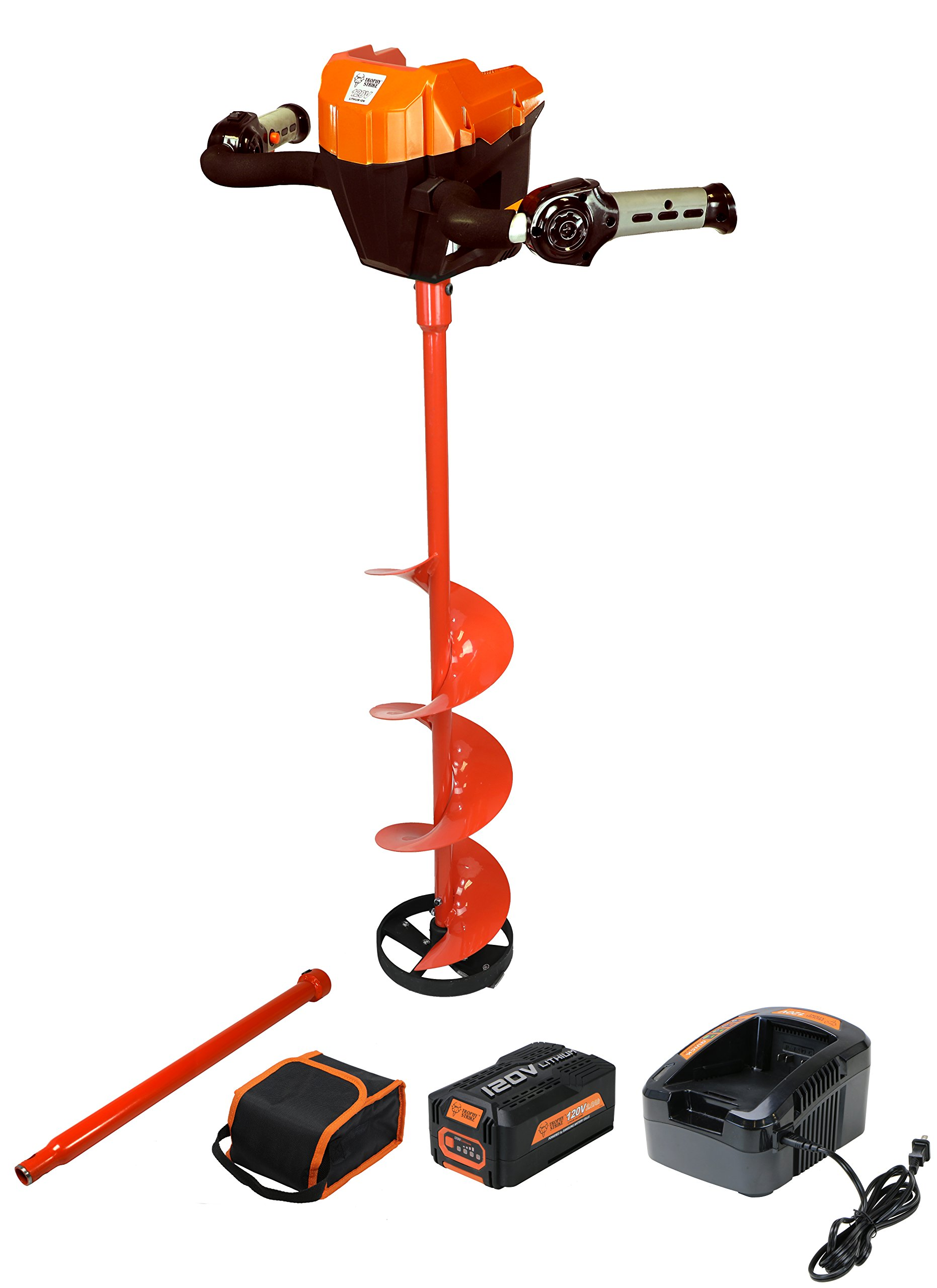 Trophy Strike 120V Lithium Ion Battery Ice Auger - Everything You Need to Start Drilling! by Trophy Strike