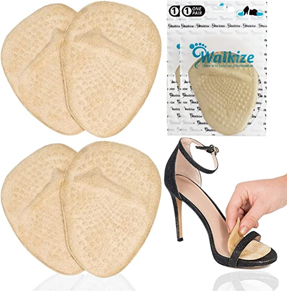 Pads Shoe Heel Flexible Cushion Insole Front Foot Massage Care Gel Anti-Slip r