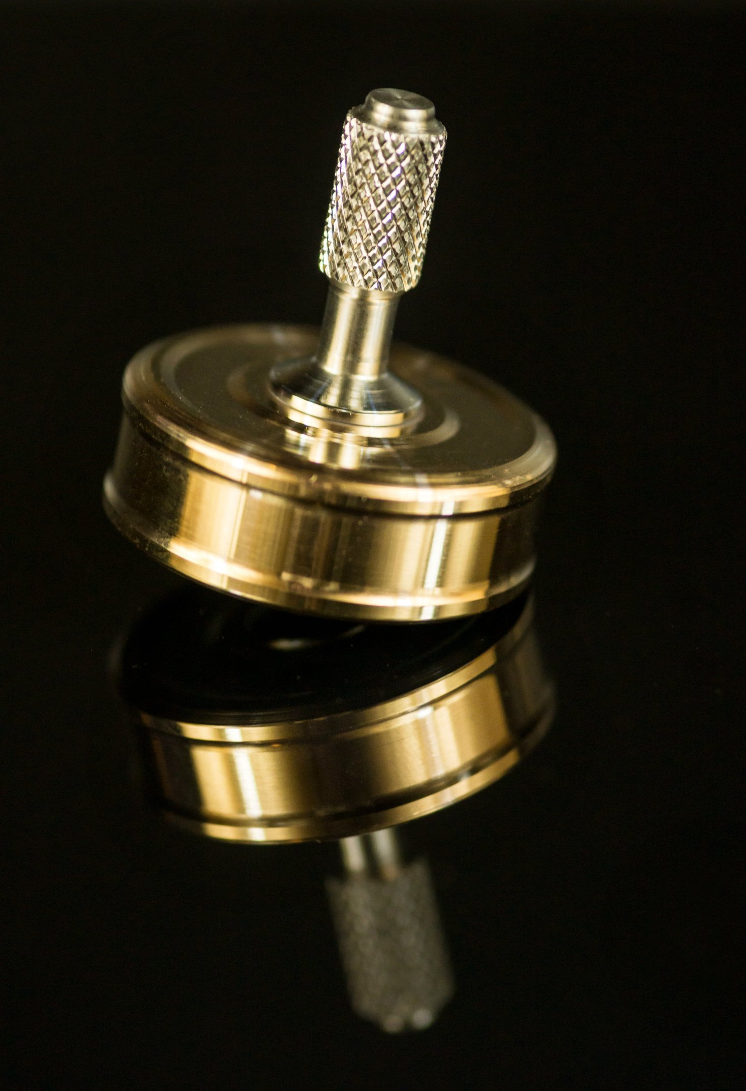 Bronze Pocket Top Precision Spinning Desk Toy for a Hand Made High End Collection by RCS ProFab INC. (Image #7)