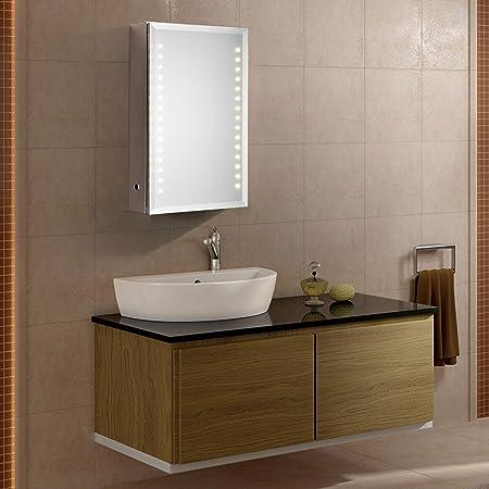 Led Beleuchteter Badezimmer Spiegelschrank Mit Infrarot Sensor 02 61