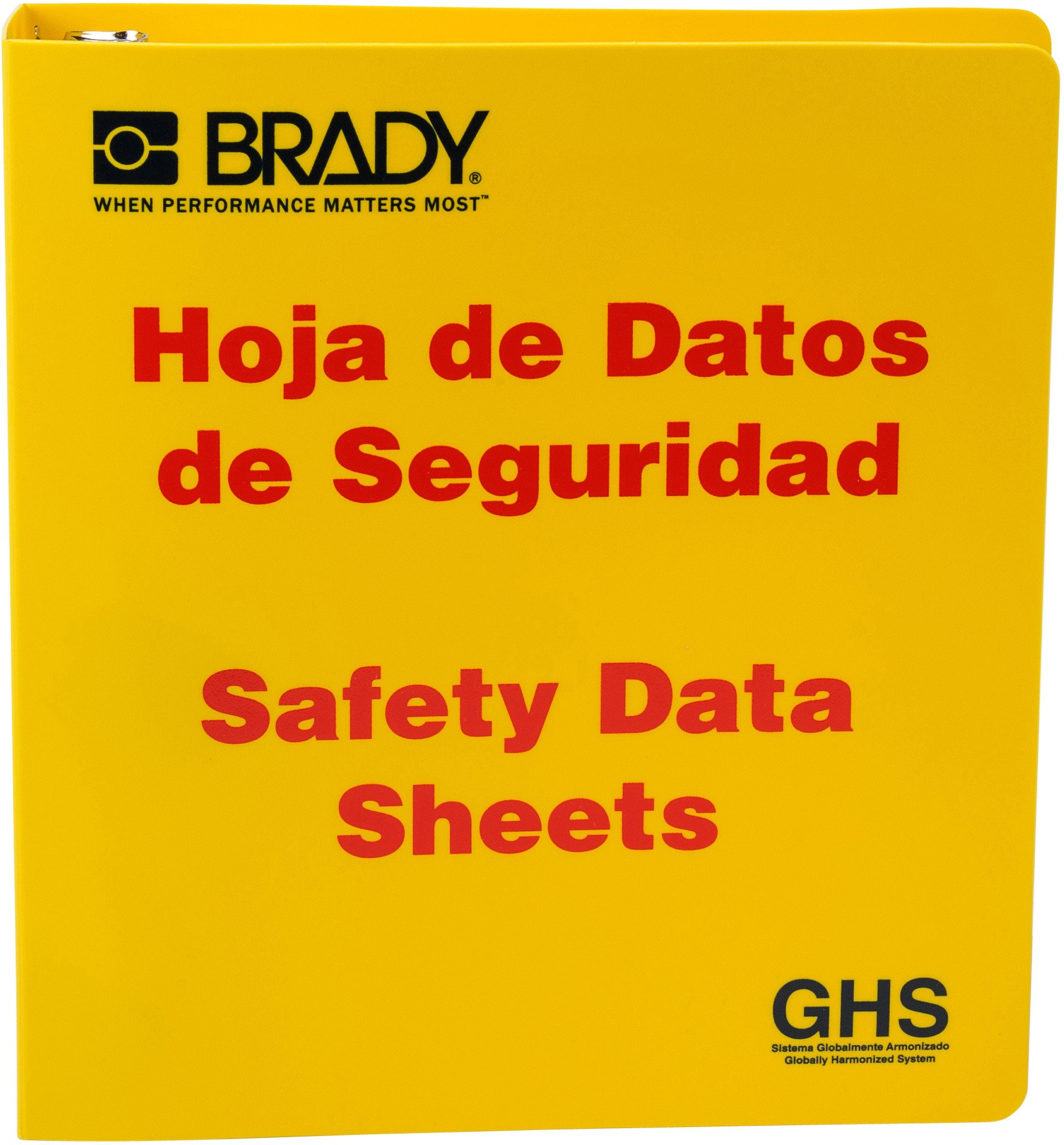 Brady 121185 GHS - 1.5'' Safety Data Sheet Binder - Spanish