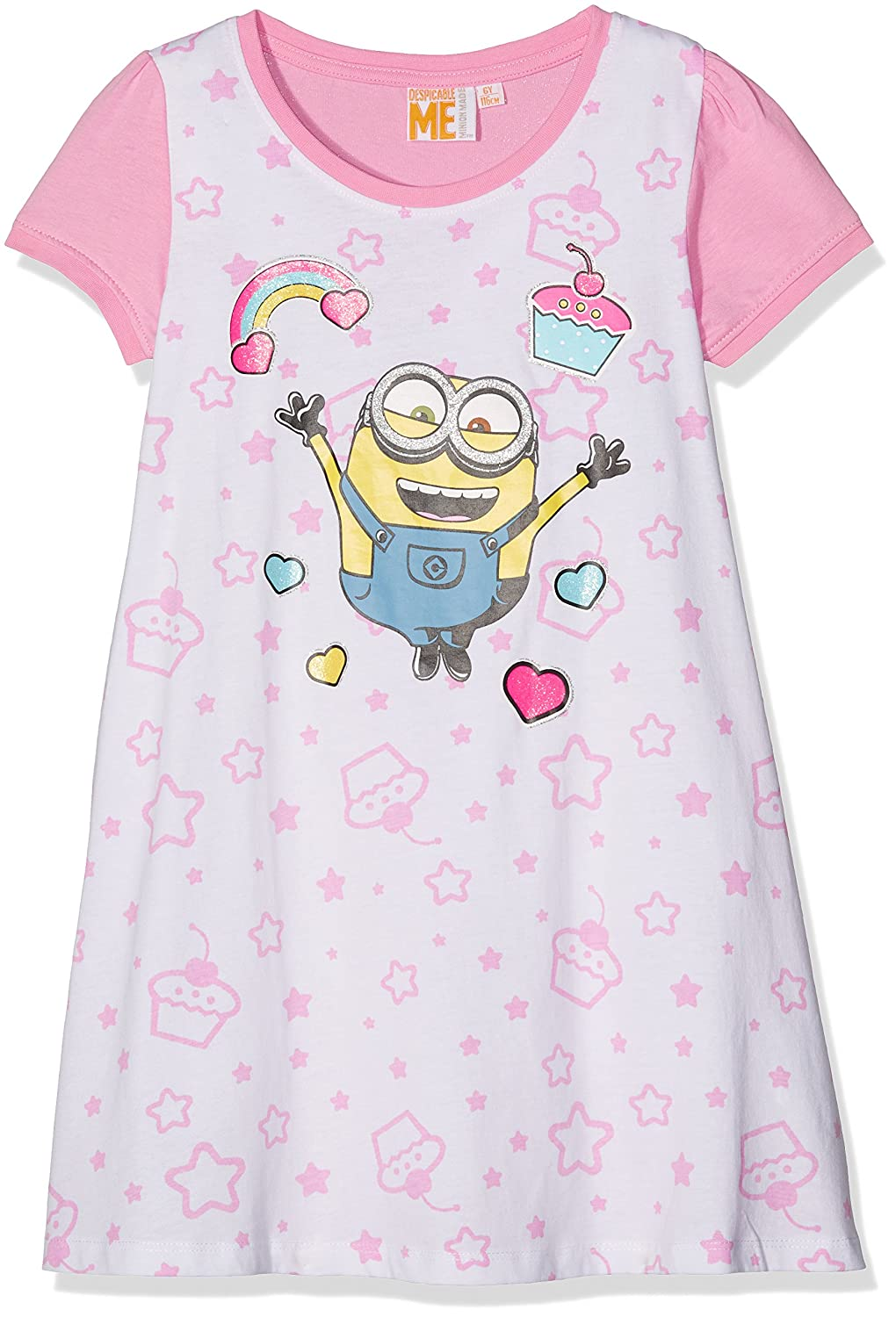 Minions Despicable Me Girls Nigthgown - white