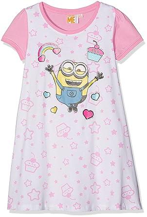 size 40 bc8ff c6c82 MINIONS Minions Despicable Me Mädchen Nachthemd - weiß ...