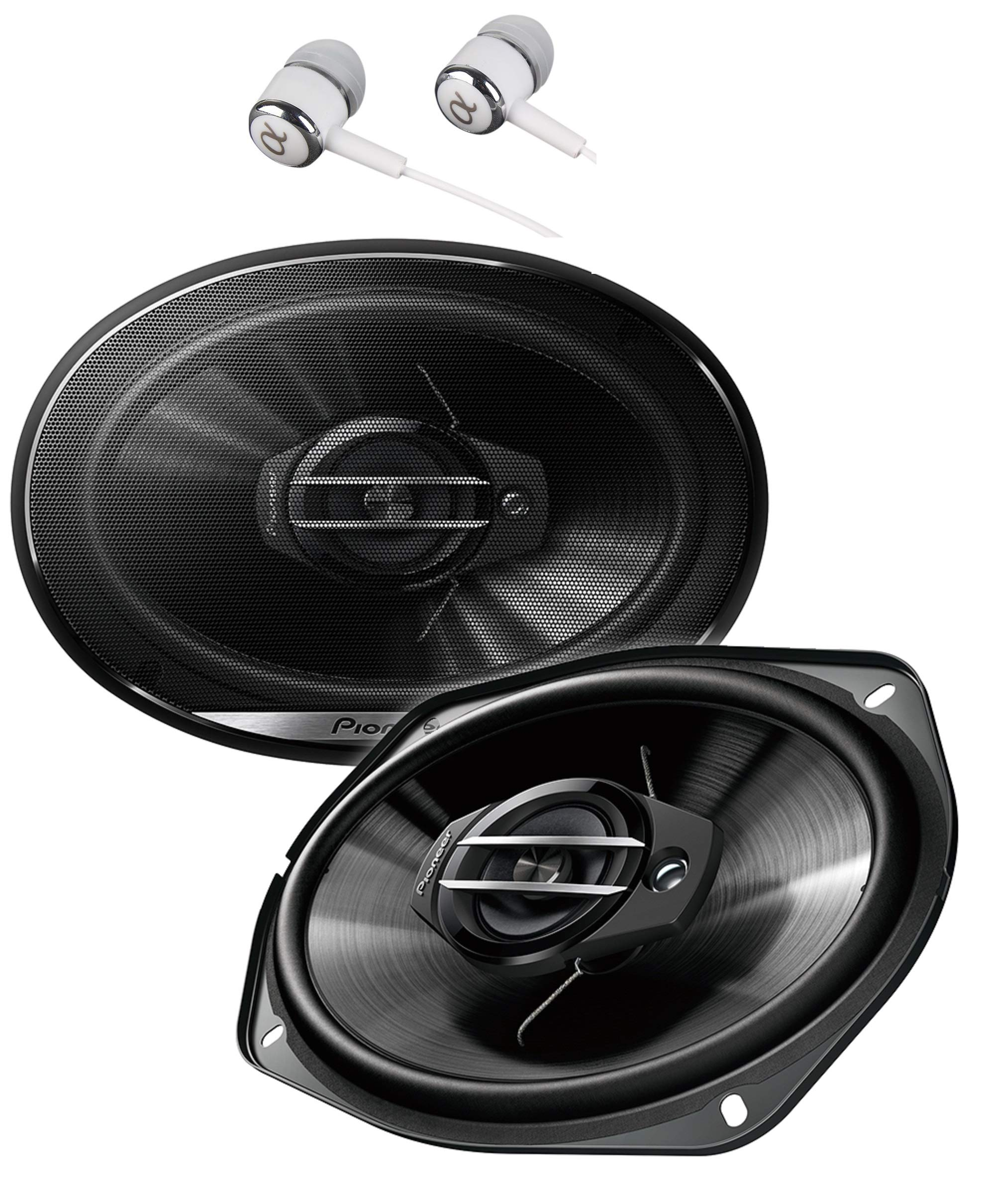 Pioneer TS-G6930F 800 Watts Max Power 6 x 9'' 3-Way G-Series Coaxial Full Range Car Audio Stereo Speakers / FREE ALPHASONIK EARBUDS