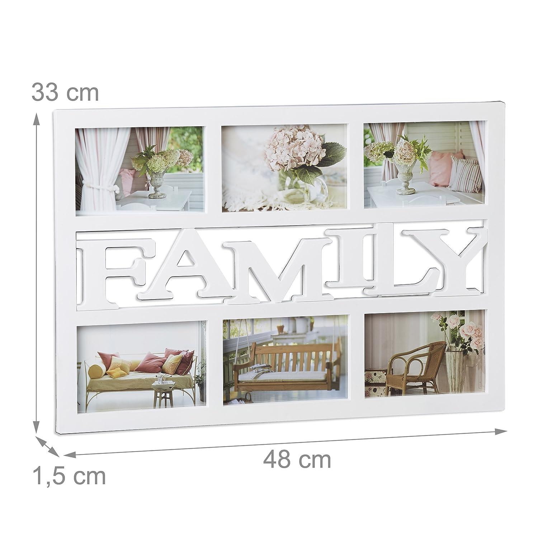 Amazon.de: Relaxdays Bilderrahmen Family, Fotorahmen 6 Bilder ...