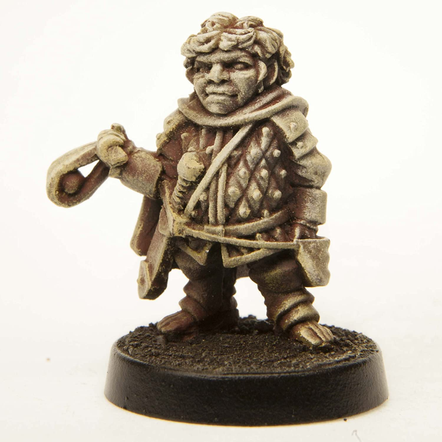 Made in USA for 28mm Scale Table Top War Games Stonehaven Male Halfling Soldier with Sling Miniature Figure