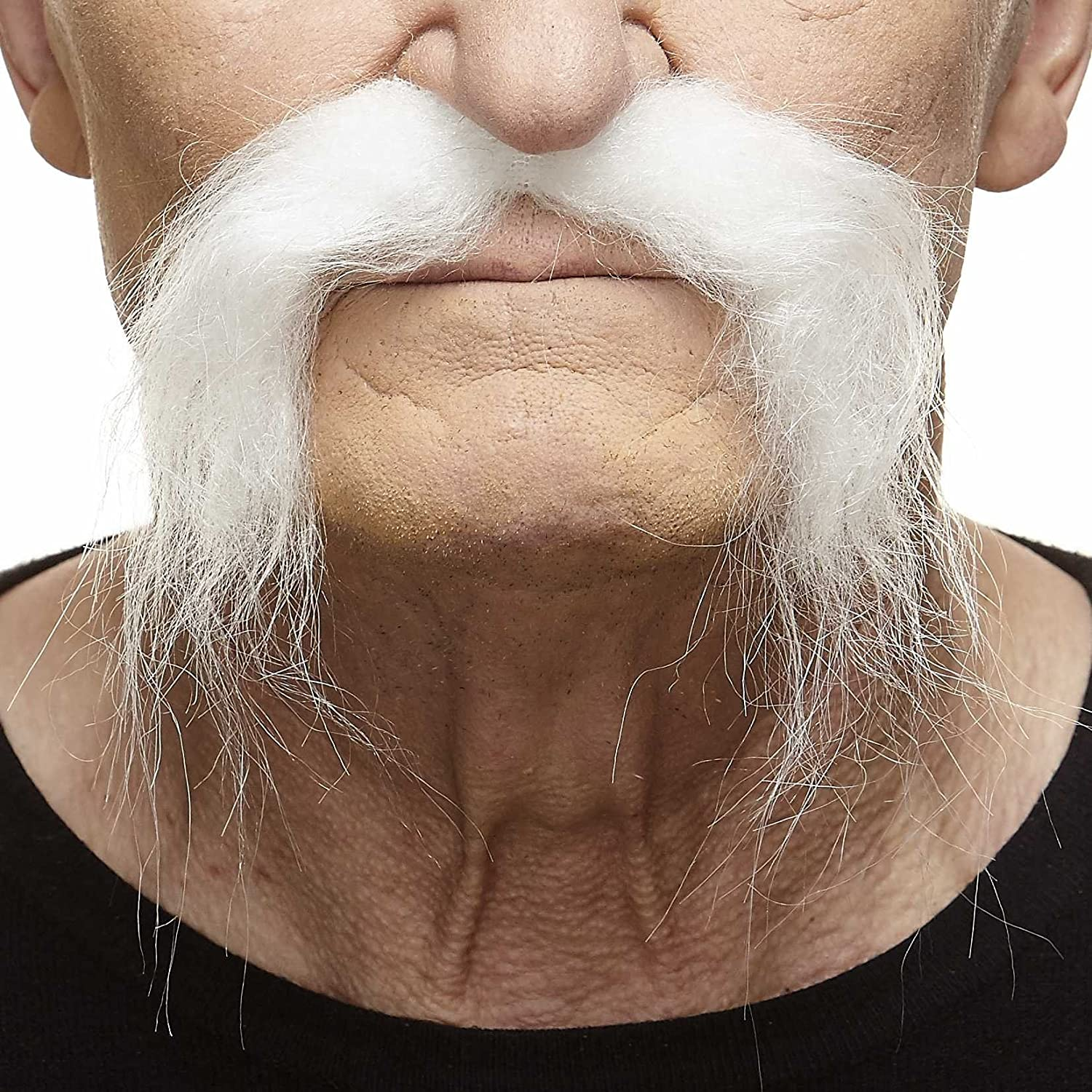 Mustaches Self Adhesive, Novelty, Fake, Realistic Fu Manchu Blond Color