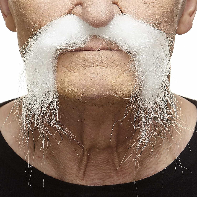 Mustaches Self Adhesive, Novelty, Fake, Realistic Fu Manchu Black Color