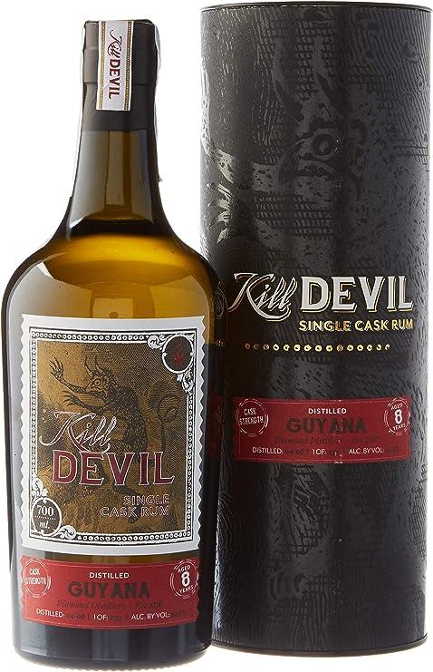 Kill Devil 8 Años de Edad Guyana Solo Barril Ron en Caja de Regalo - 700 ml