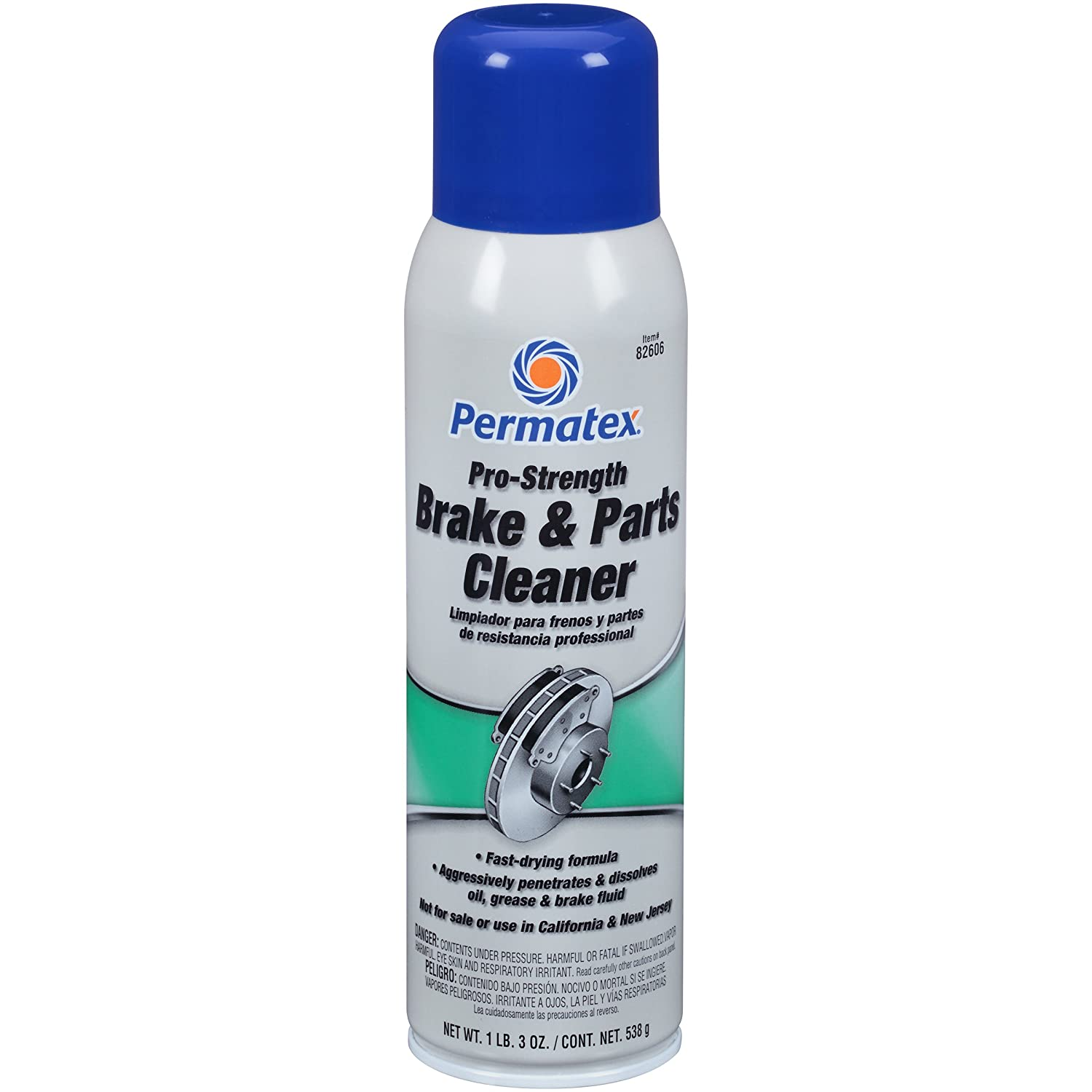 Permatex 82606 Pro Strength Brake and Parts Cleaner, 19 oz Aerosol Can