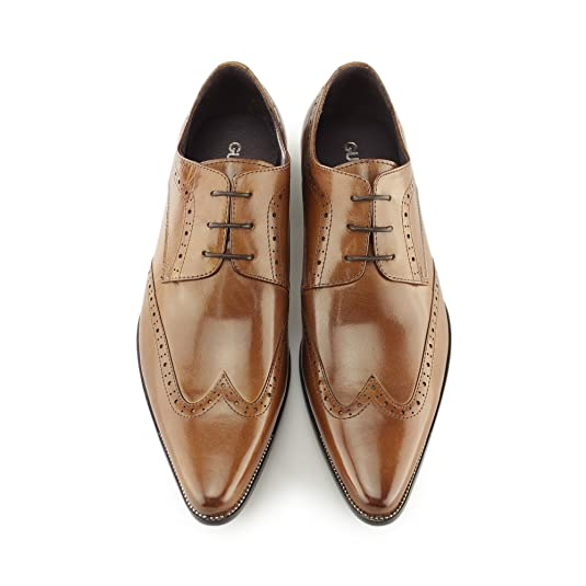 Gucinari AREZZO II Mens Leather Lace Up Cuban Heel Shoes Burnished Tan:  Amazon.co.uk: Shoes & Bags