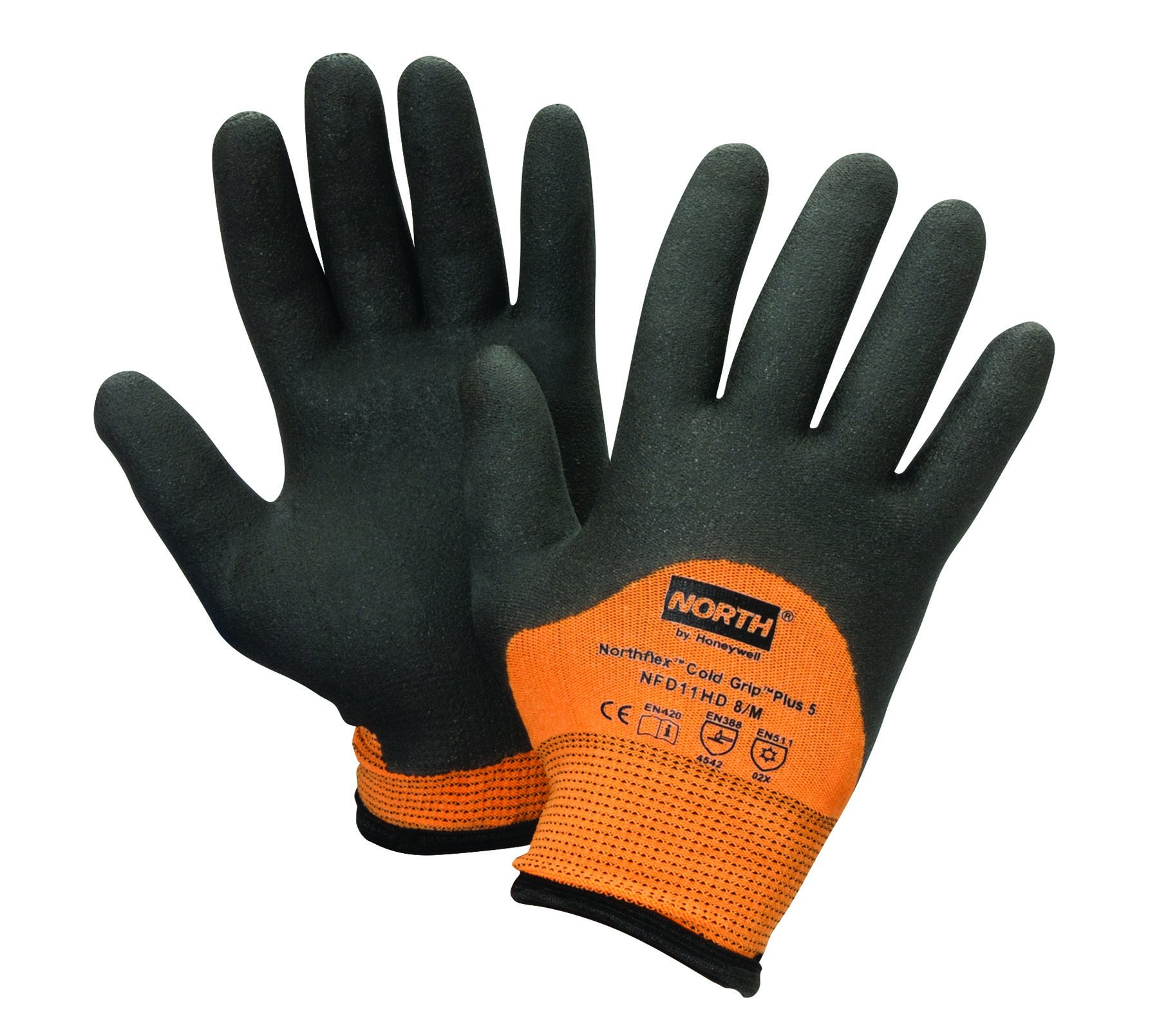 North by Honeywell NFD11HD/10XL Northflex Cold Grip Plus 5 Cut-Resistant PVC Palm-Coated Gloves, Size 10/X-Large