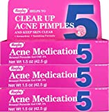Benzoyl Peroxide 5% Generic for Oxy Balance Acne Medication Gel 1.5 oz 3 PACK