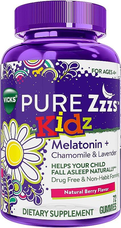 Amazon.com: Vicks Pure Zzzs Kidz Melatonina Lavanda ...