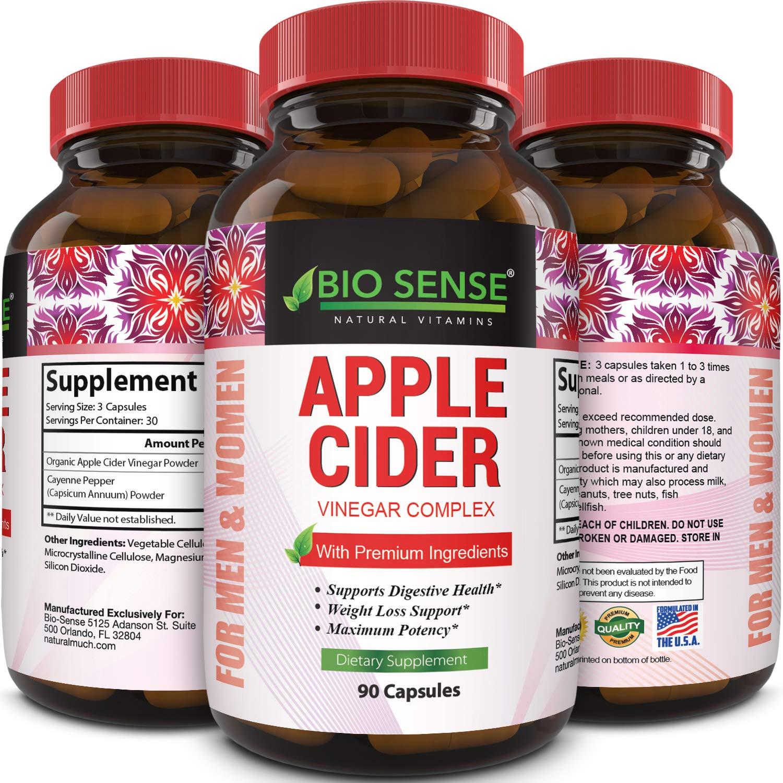 Apple Cider Vinegar Pills For Weight Loss 1500 Mg Acv Extra Strength Fat Burner Natural Supplement