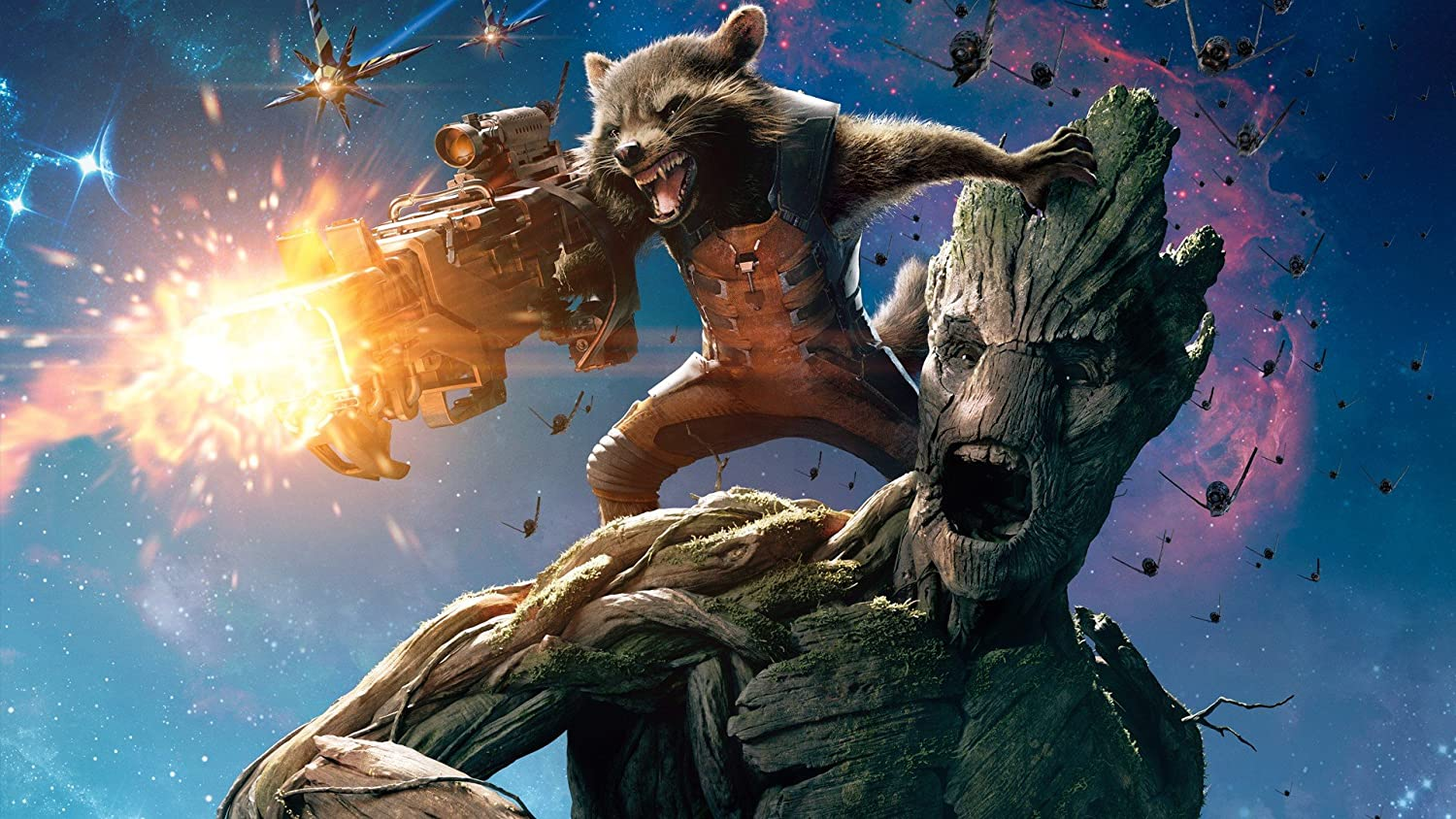 Posterhouzz Movie Guardians Of The Galaxy Rocket Raccoon Groot Hd