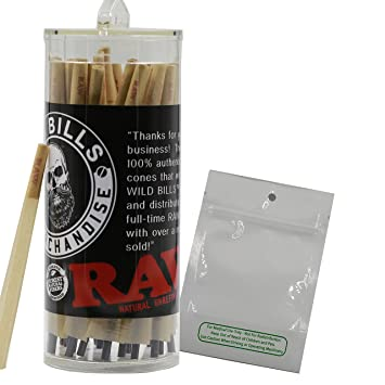 b9e00735949ce RAW Classic 98 Special Pre Rolled Cones Bundle (100 Pack) With Mylar 3.5 x  5 No Stink Bag