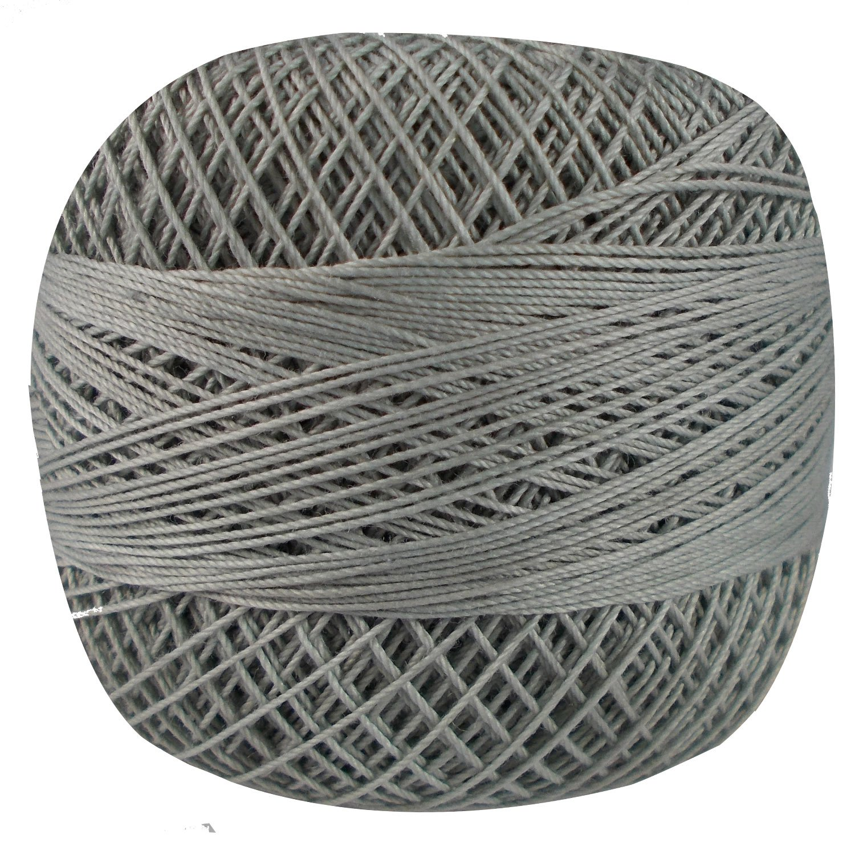 Set of 10 Pcs Gray Turquoise Cotton Crochet Thread Cross Stitch Knitting Yarn Tatting Doilies Skeins Lacey Craft by CraftyArt (Image #4)