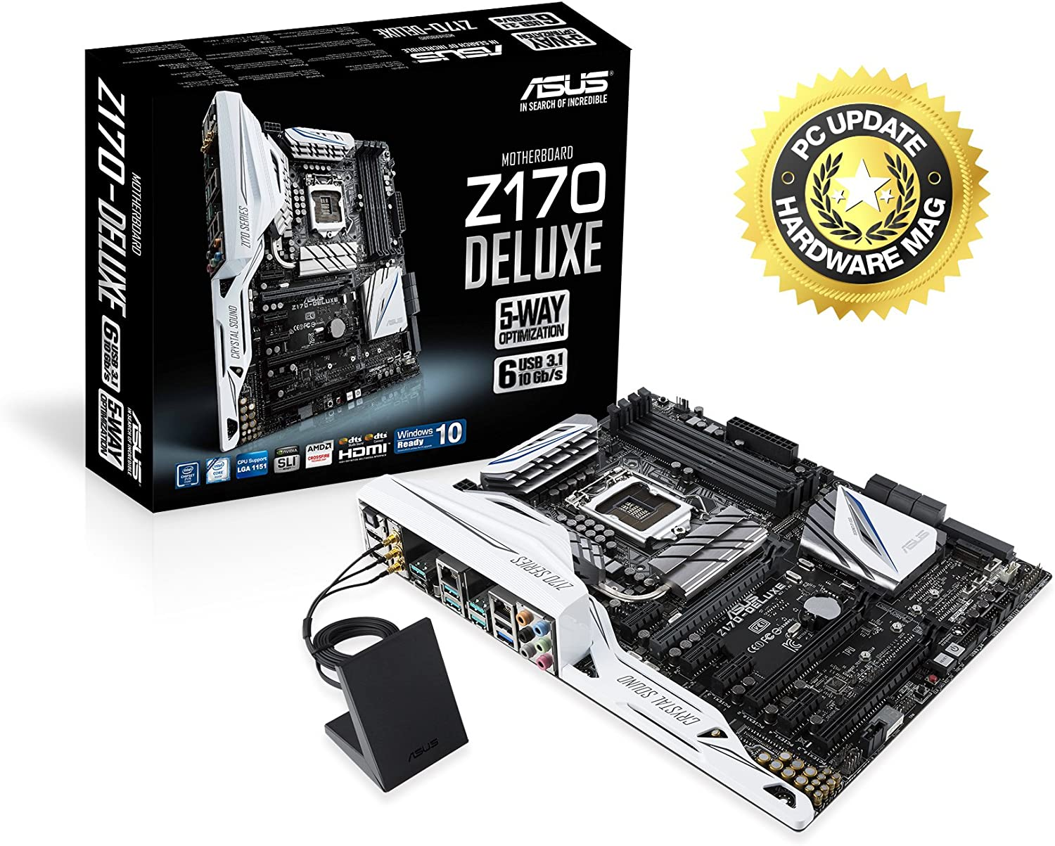 ASUS Z170-Deluxe - Placa base (DDR4, Intel, ATX, SATA 600, USB 3.1 ...