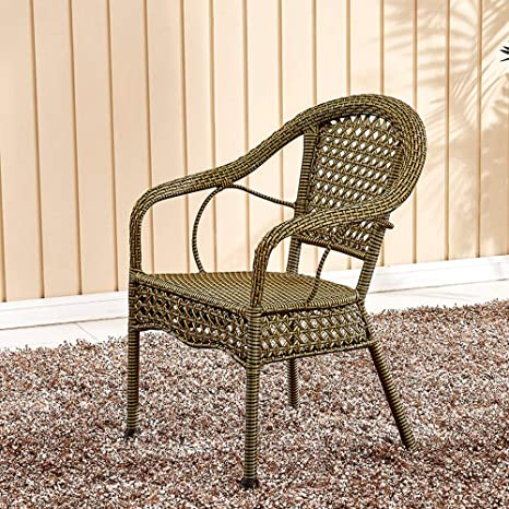 Amazon.com: Duriano Set of 2 Rattan Bar Chair Ergonomic ...