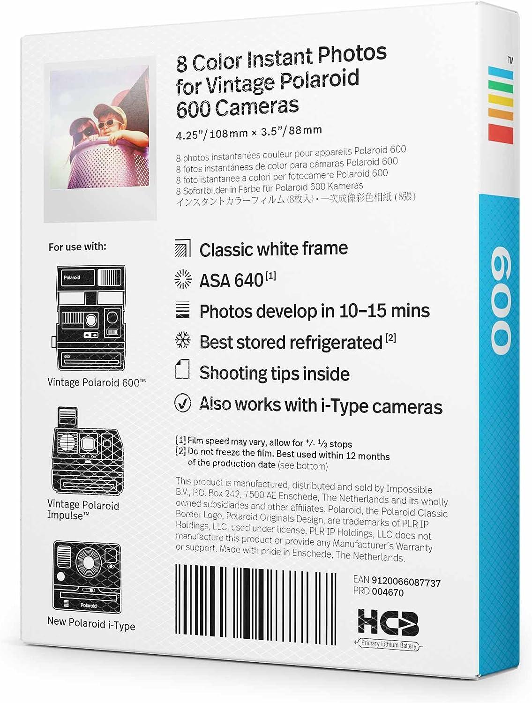 Polaroid  600 Color Film für Polaroid 600 Kameras  NEU  3 Filme
