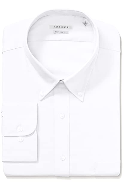 e44505bc097 Van Heusen Men s Pinpoint Regular Fit Solid Button Down Collar Dress Shirt  at Amazon Men s Clothing store  Dress Shirts