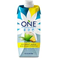 O.N.E. Coconut Water with a Splash of Pineapple, 16.9 Ounce (Pack of 12)