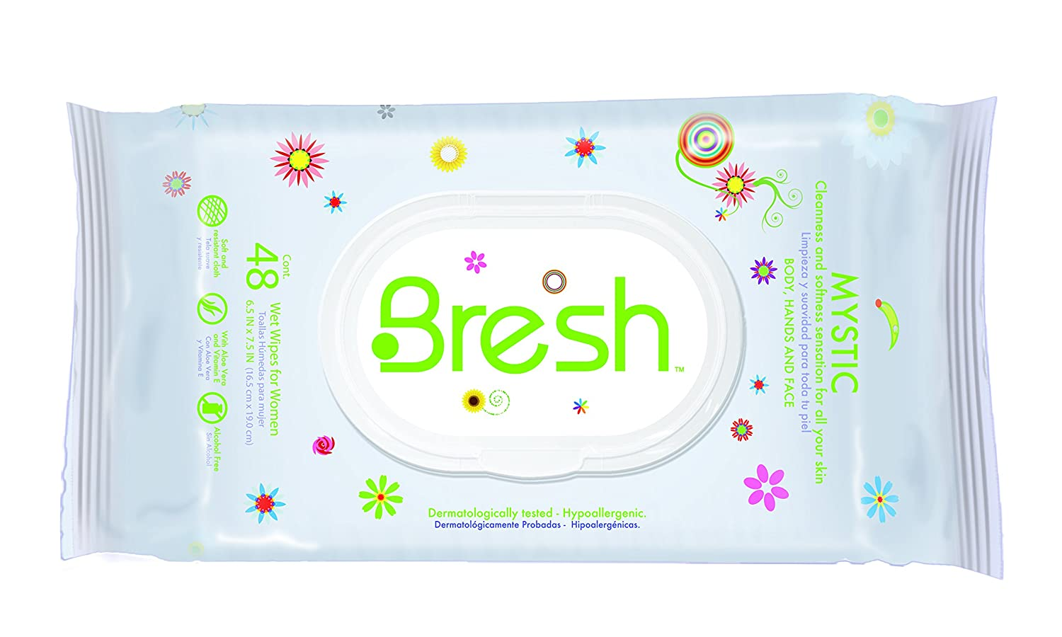Amazon.com: Body Wipes for Women BRESH -Feminine Wipes- Hypoallergenic and pH Balanced Wet Wipes - Ideal after Sports, Traveling, Car, Purse, ...
